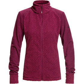 Roxy Surface Through Veste zippée Femme, grape wine losange jacquard